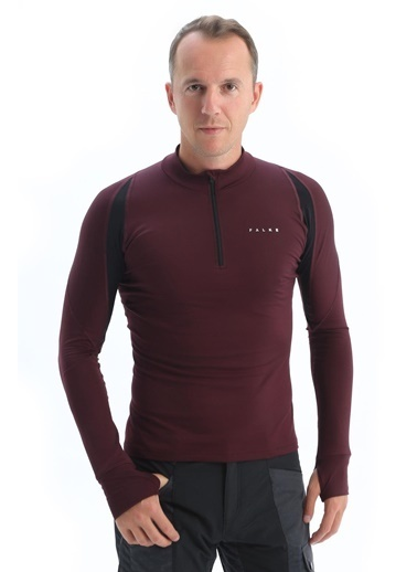 Falke Thermal Ls Performance Tee Erkek Sweatshirt - Flk4424436 Bordo